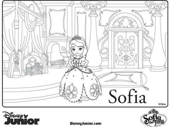Tranh cho bé tô màu ông chúa Sofia 24