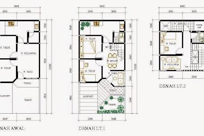 Contoh Denah Rumah Tipe 36  2 lantai untuk jangka panjang