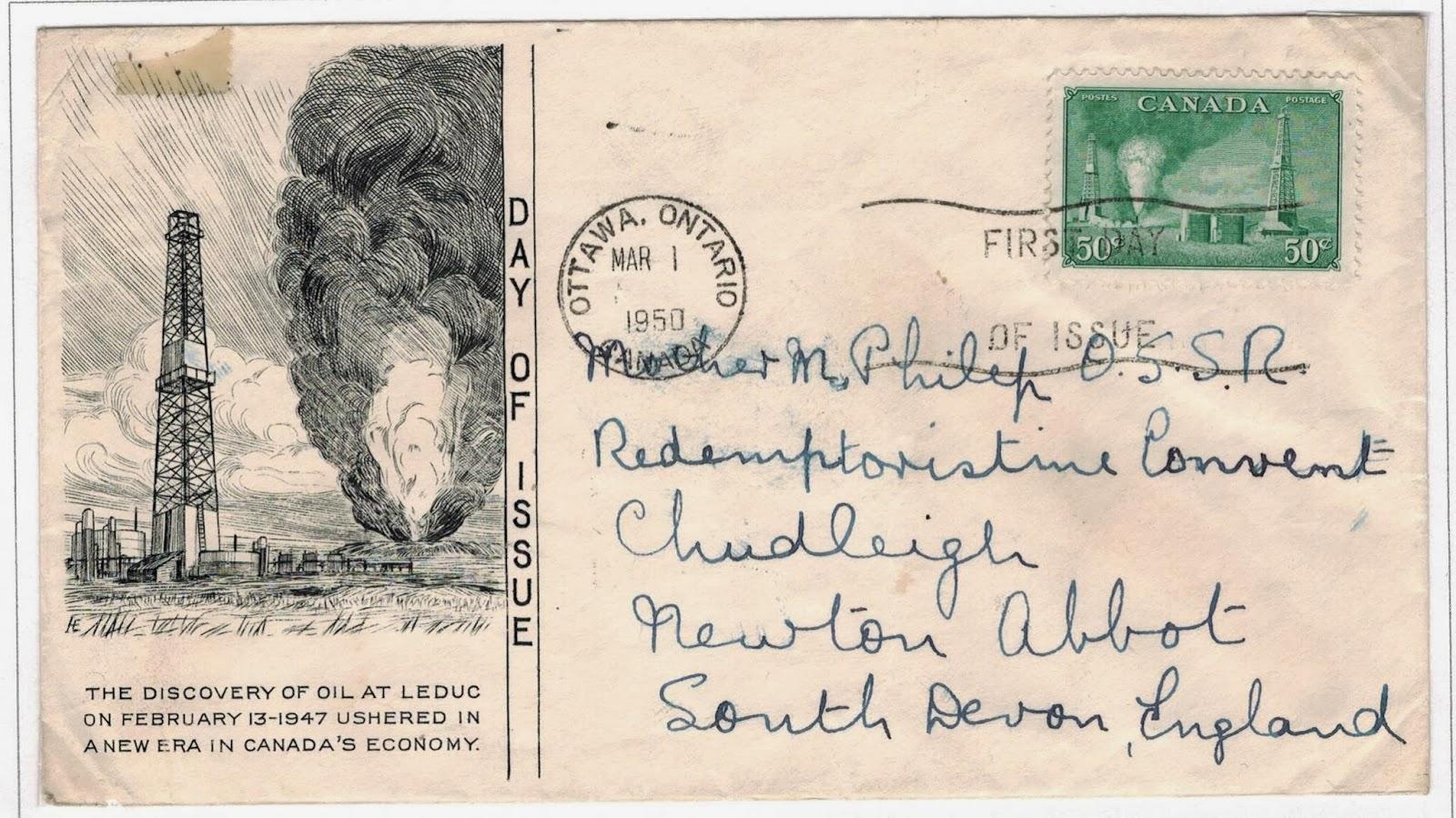 Postal History Corner 1950 Petroleum Industries Definitive