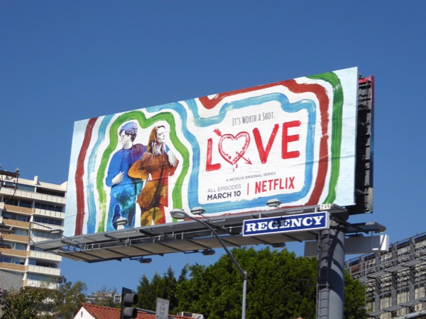 Love season 2 Netflix billboard