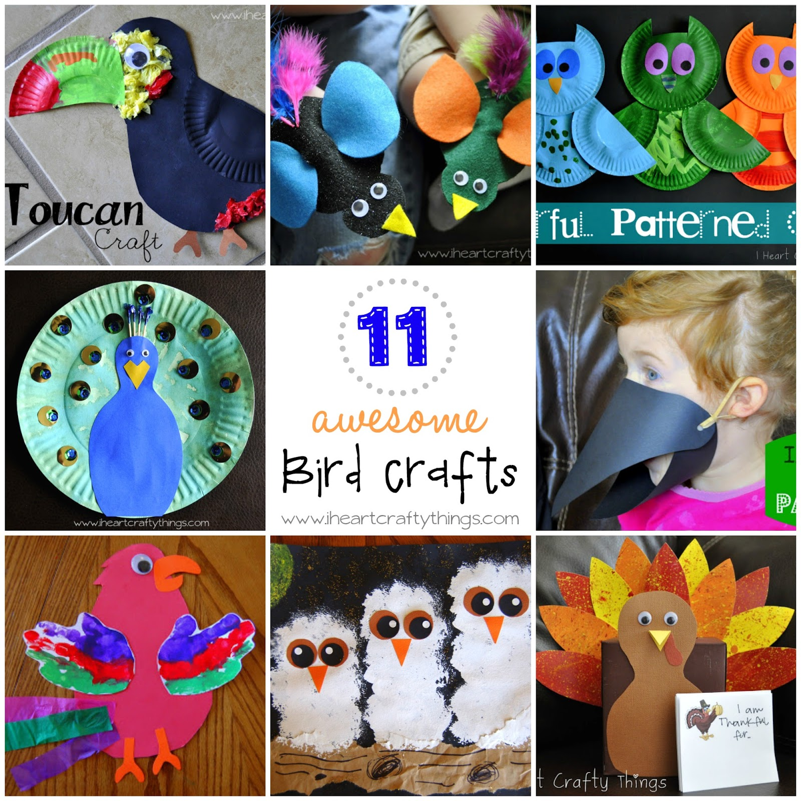 I Heart Crafty Things 11 Awesome Bird Crafts