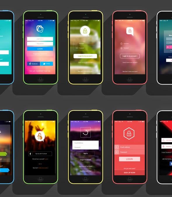 12 Login Screens App UI