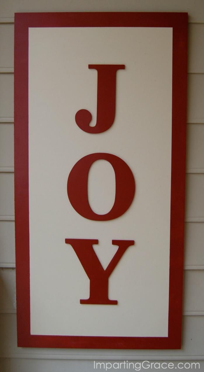 Imparting Grace Diy Quot Joy Quot Sign