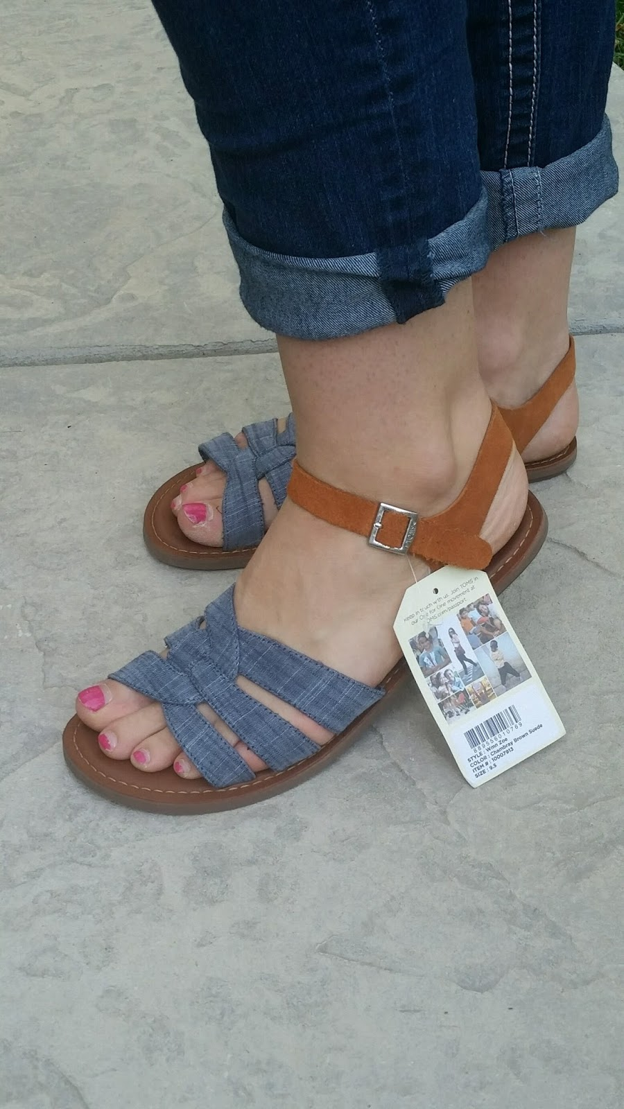 5bf83bb89a1 Zoe Chambray Sandals by Toms. In preparation for this fix
