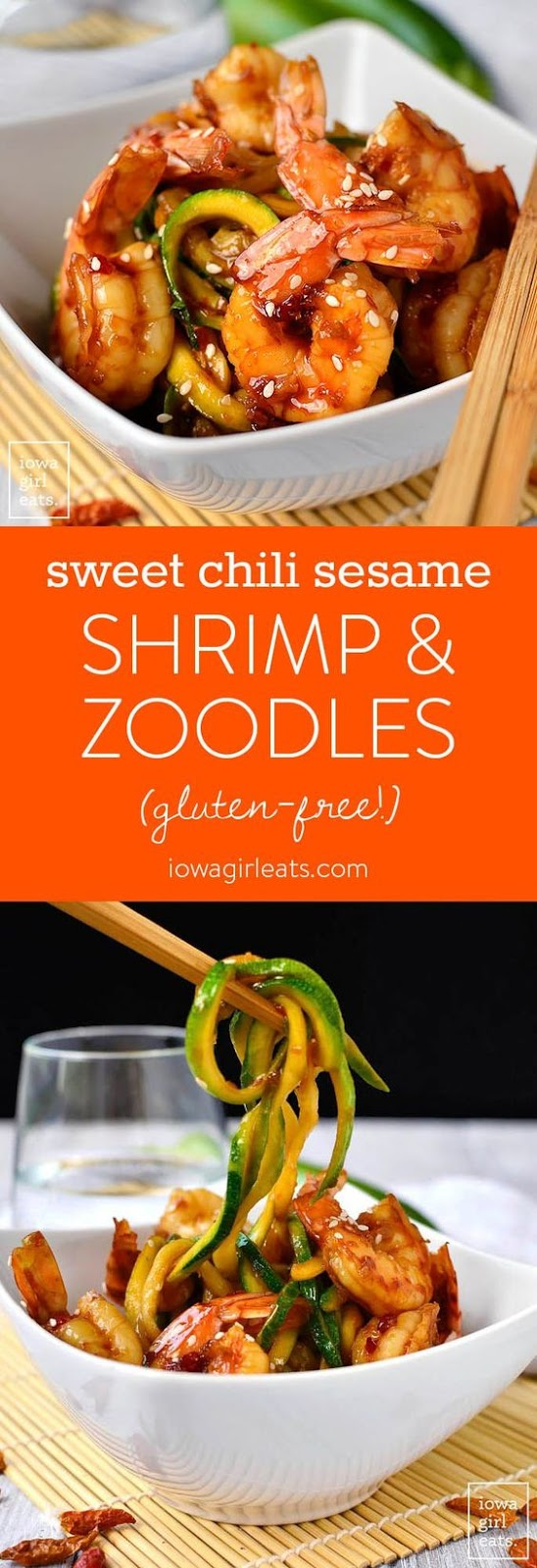 Sweet Chili Sesame Shrimp and Zoodles
