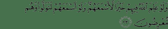 Surat Al Anfal Ayat 23