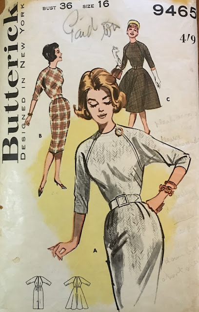 butterick 9465 1960s dress