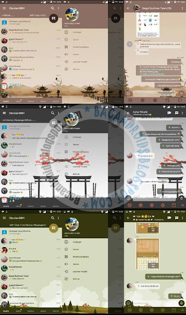 bbm mOD naf cHAT cOLLECTION THEME BROWN gREY gREEN V3.2.5.12 aPK TERBARU