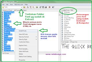 cara menambah atau install font ke komputer