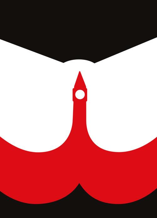 Ilustración erótica Noma Bar, espacio negativo y Big Ben