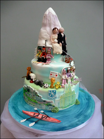 Cakechannel Com World Of Cakes Quot Football Story Quot Wedding