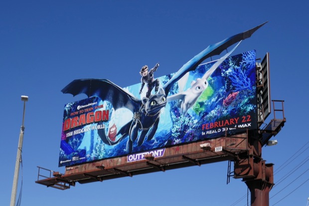How to Train Your Dragon Hidden World cut-out billboard