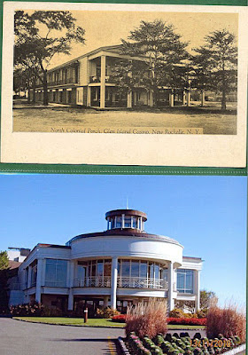 The Glen Island Casino 1950's top & present day