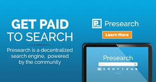gagner de l'argent avec Presearch