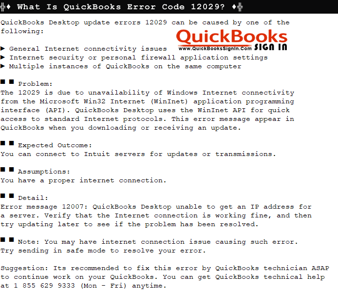 what is quickbooks error code 12029