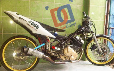 Modif Satria FU Drag Bike
