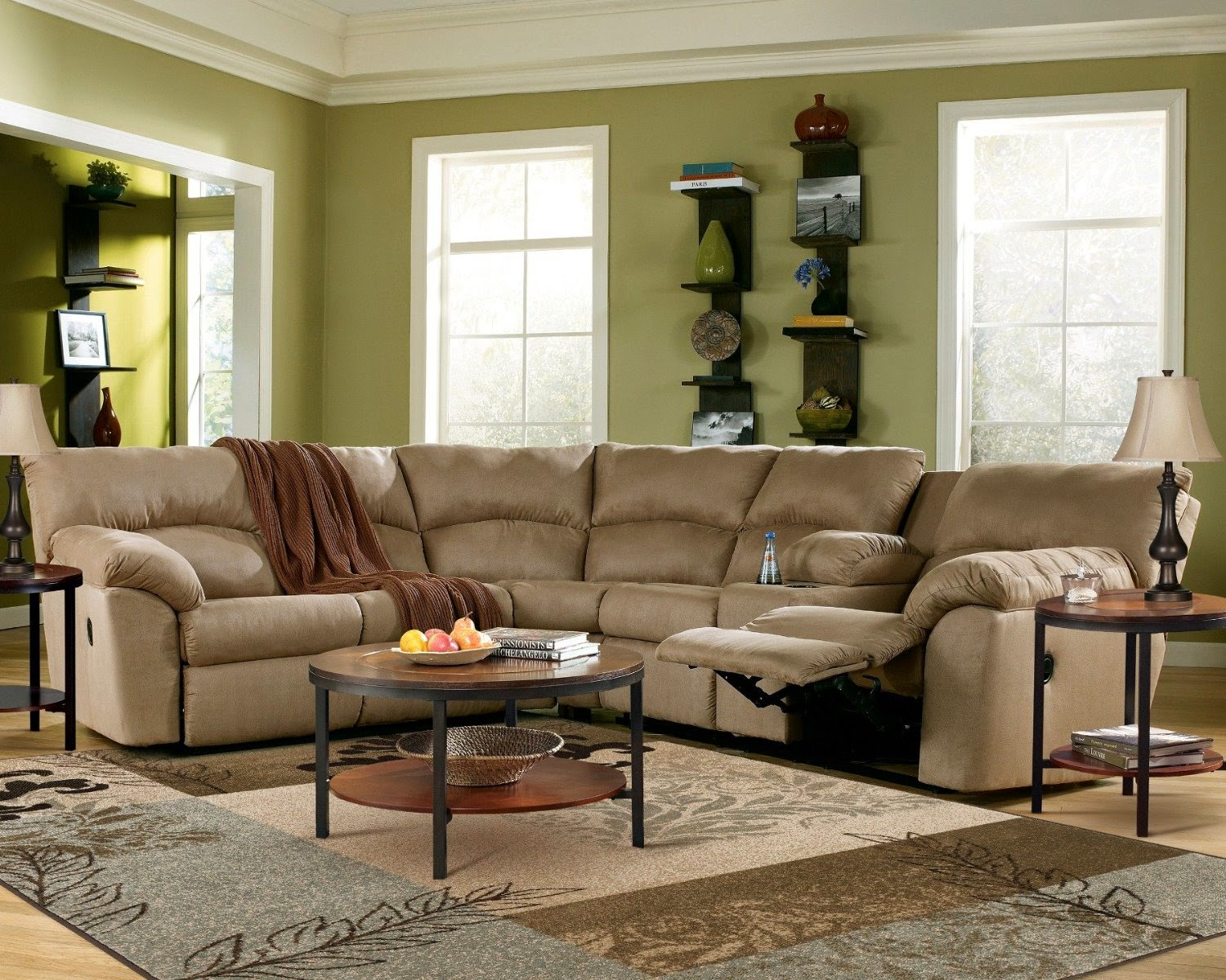 Curved sofa curved reclining sofa for Curved sectional sofa amazon