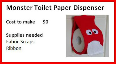 Creating My Way To Success Monster Toilet Paper Dispenser