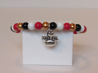 jewelry for sports fans football bracelet beads rava designs