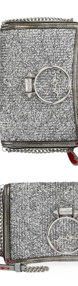 Christian Louboutin Rubylou Lurex-Knit Shoulder Bag