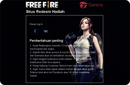 Cara Menukar / Redeem Kode Free Fire Garena Indonesia