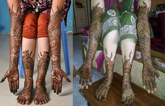 Dulhan Mehndi Designs for Feets