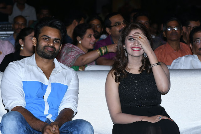 sai dharam tej, Surabhi at Gunturodu Audio Launch