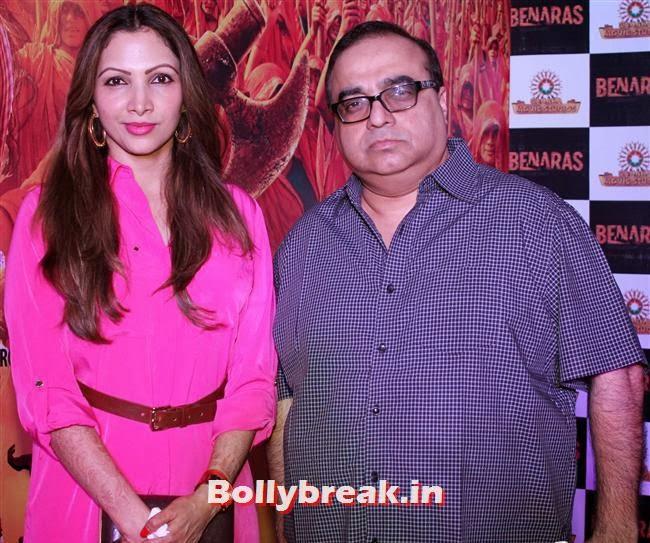 Raj kumar Santoshi with wife, Manila, Gulaab Gang Movie Premiere Pics