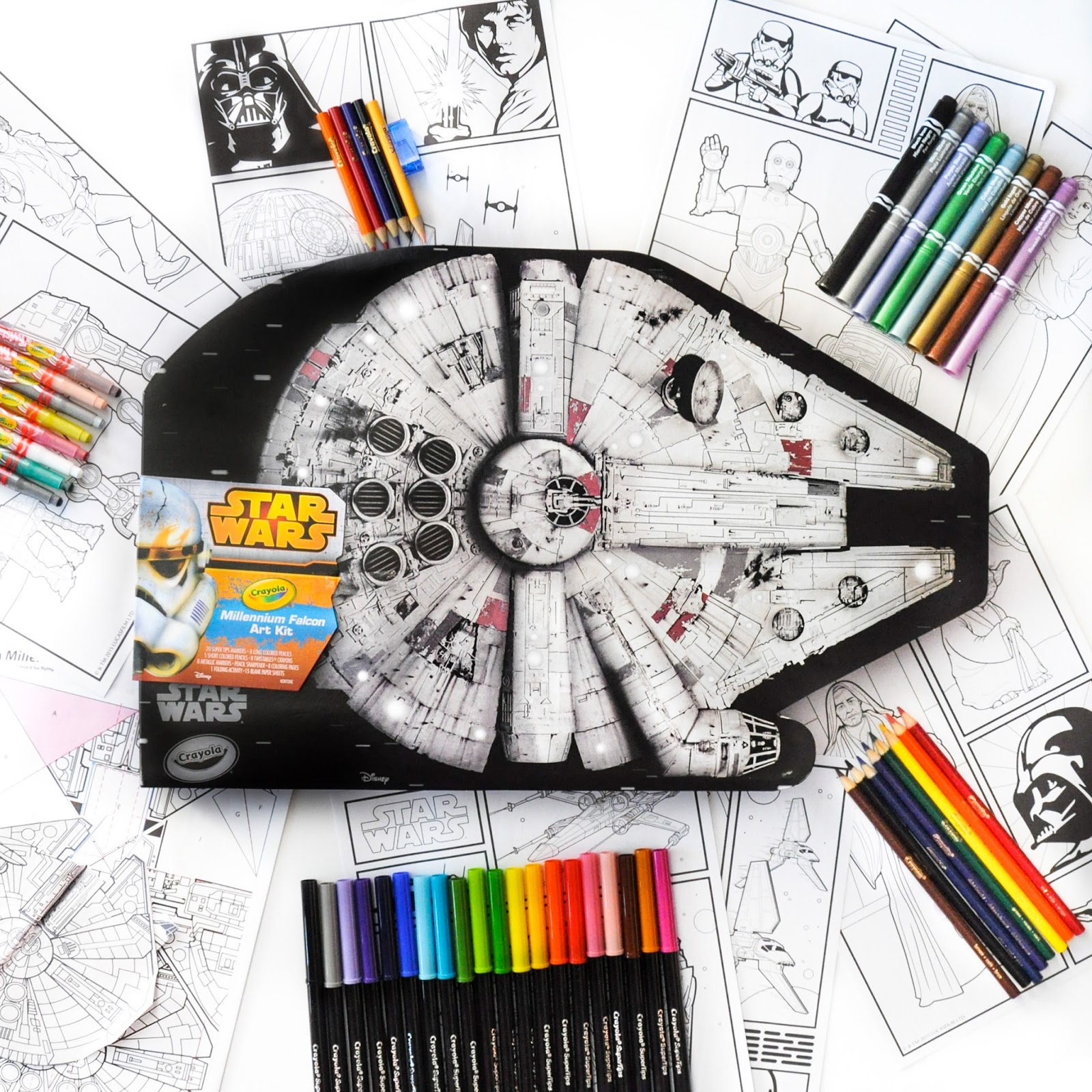 Crayola Star Wars Millennium Falcon Art Kit Whats Inside The Kit