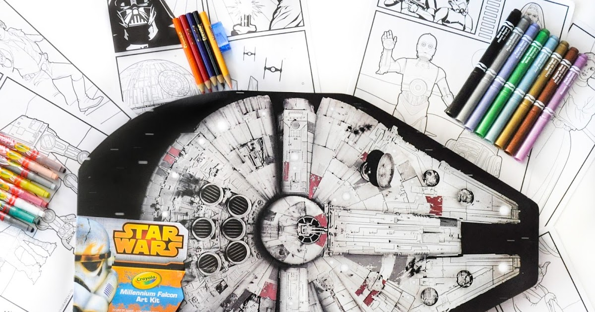 Crayola Star Wars Millennium Falcon Art Kit Whats Inside The Kit
