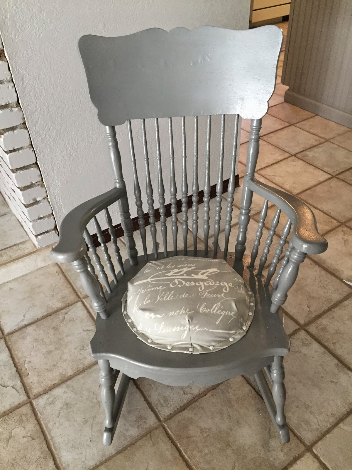 Reimagined Antique Rocking Chair Makeover