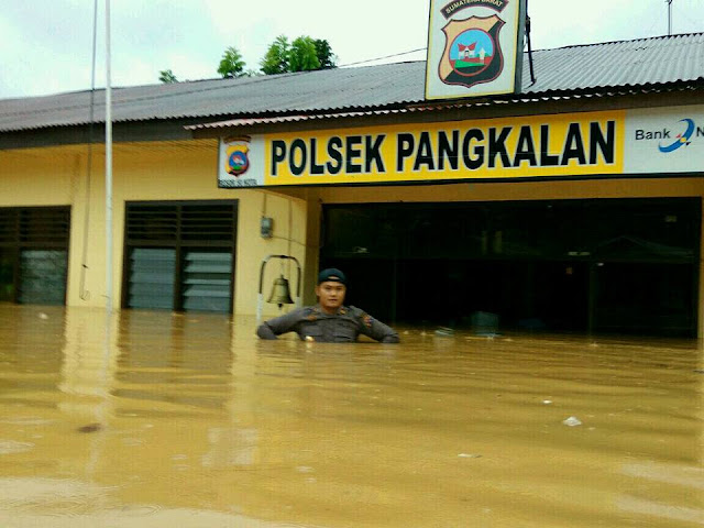 Poto-Poto Banjir Di Pangkalan Sumbar 2017