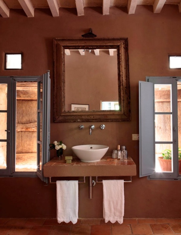 colores tierra para decorar una casa de campo italiana chicanddeco