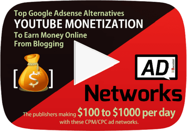 Top Best Adsense Alternatives to monetize your YouTube Channel