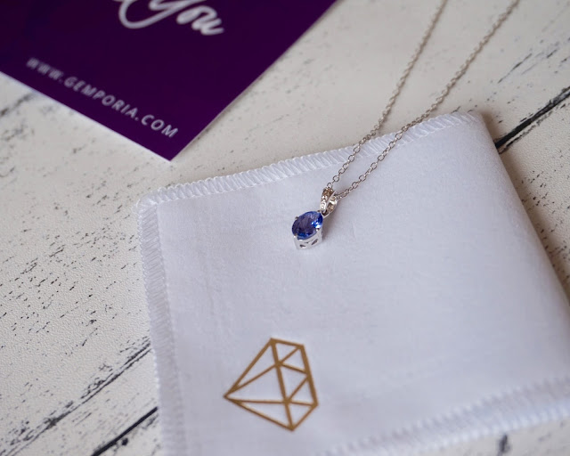 gemporia, jewellery, fashion, necklace, review, tanzanite, hannah rose, hanrosewilliams,