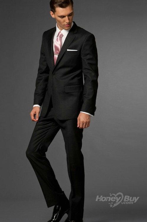 Shirt And Tie Combos With Black Suit - Suit La