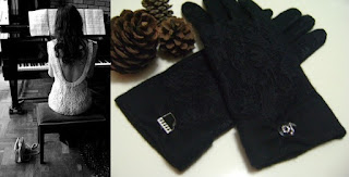 piyano nota siyah eldiven