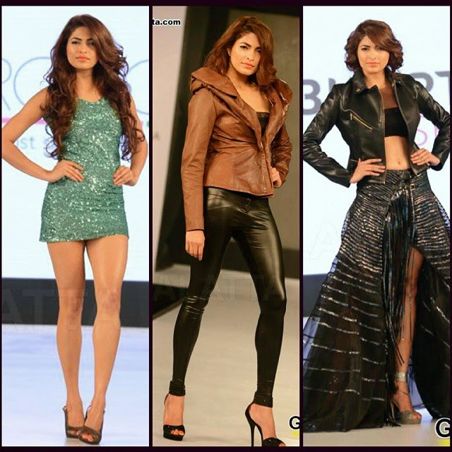 parvathy omanakuttan , walks the ramp at leather fashion , show 2015