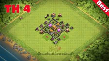 Pertahanan coc th4 base trophy