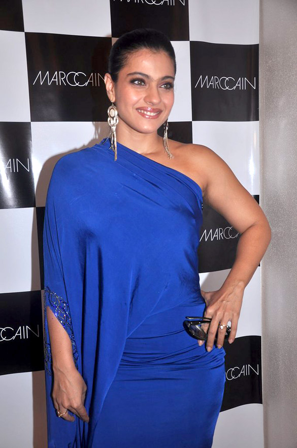 kajol hot and Sexy Leg Show in Blue Dress Photo Gallery