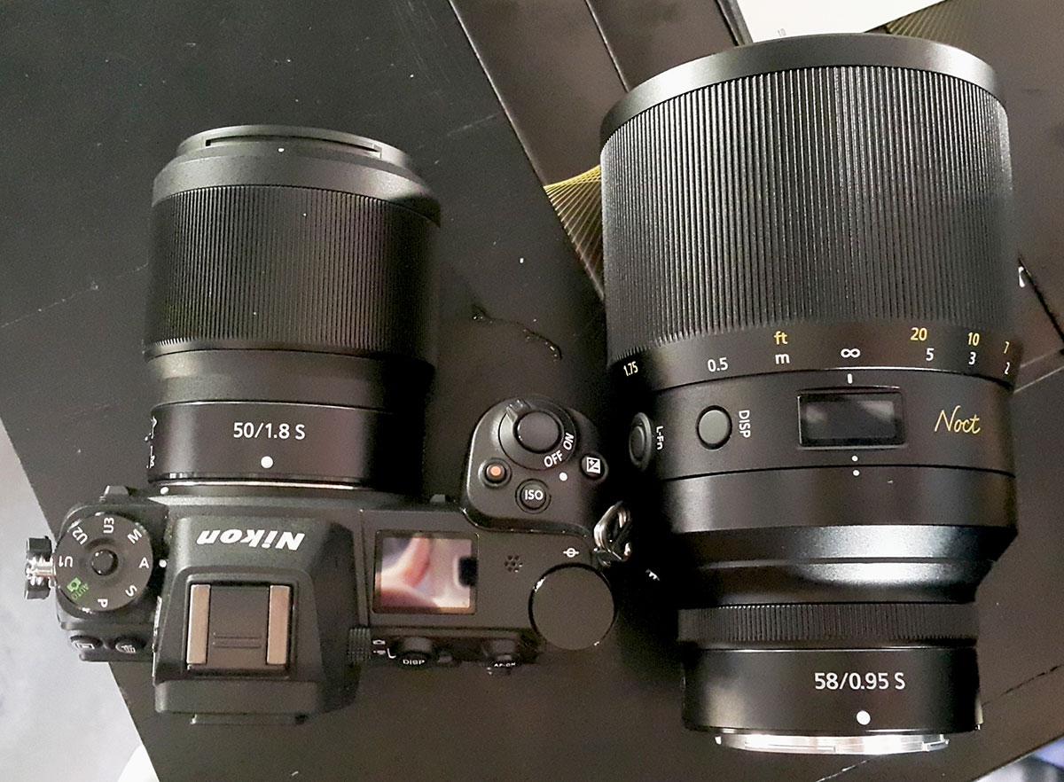 Nikon Z-Nikkor Noct 58mm f/0.95 и 50mm f/1.8 S