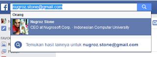 mencari email via FB