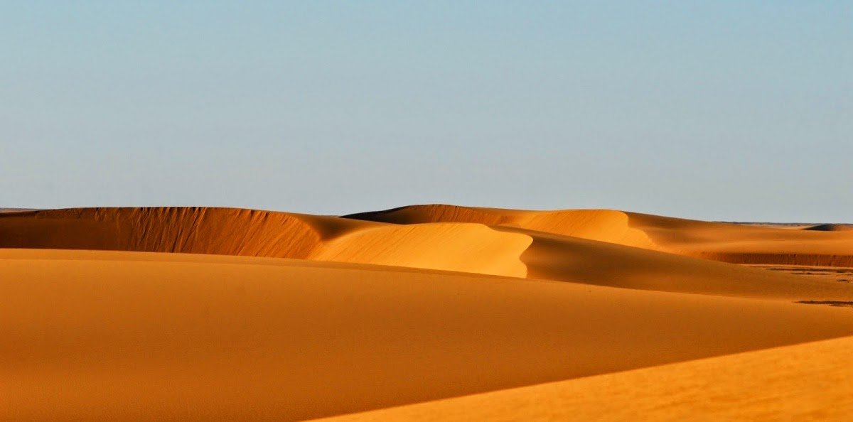 El desierto de Nubia y el clima arido