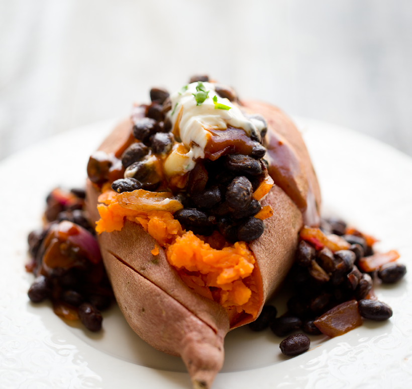 how to cook sweet potato on bbq