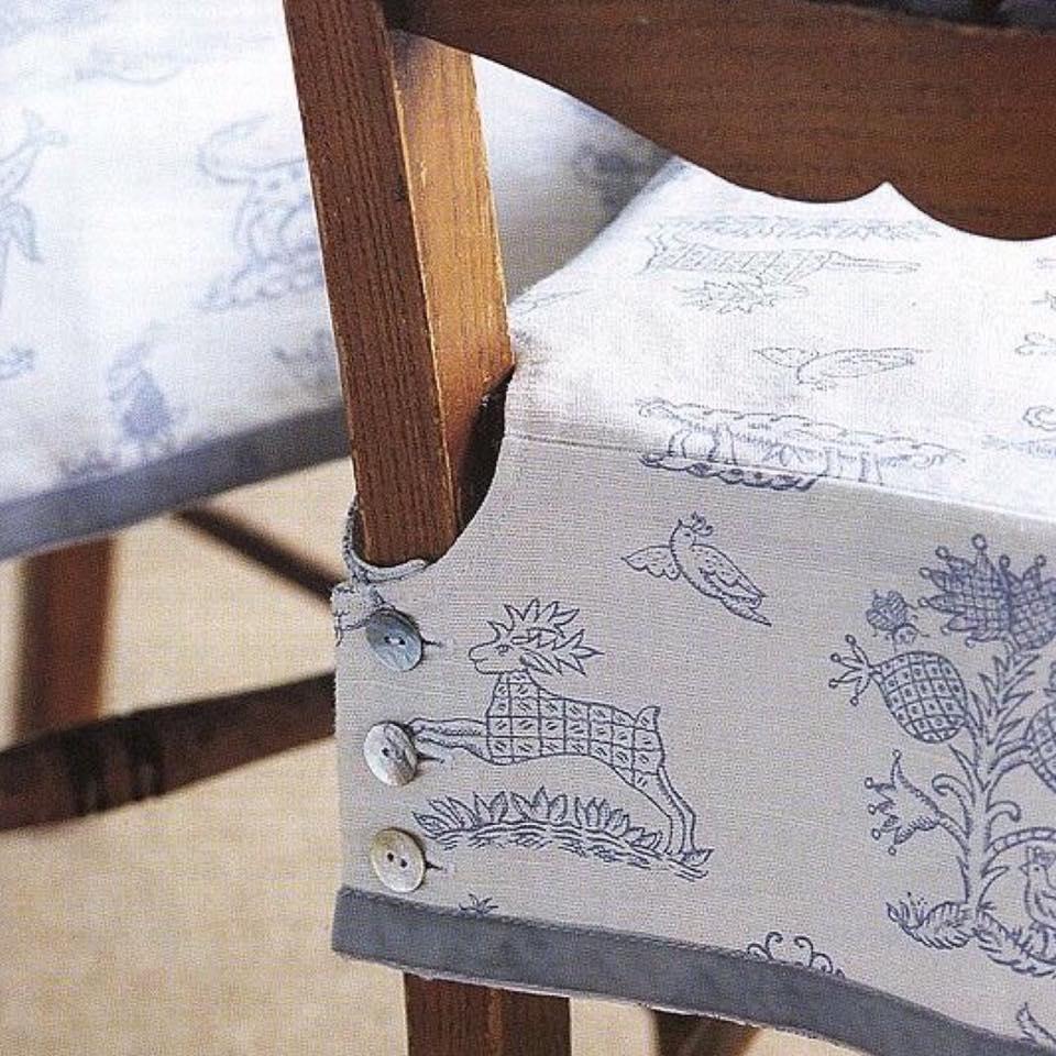 Aprende c mo hacer fundas para sillas paso a paso - Hacer cojines para sillas ...