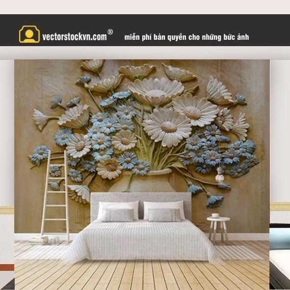 Tranh hoa gỗ sàn nhà 41553