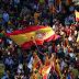 Miles de personas marcharon en contra de la independencia de #Cataluña