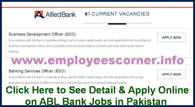Officers Jobs in Allied Bank Pakistan Jobs 2018