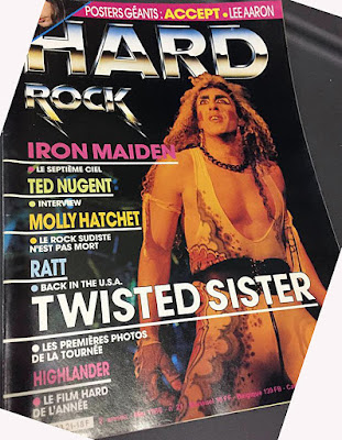 Dee on the cover of Hard Rock magazine 1986
